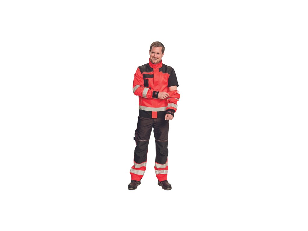 KNOXFIELD HI-VIS bunda 2v1 s odepínacími rukávy