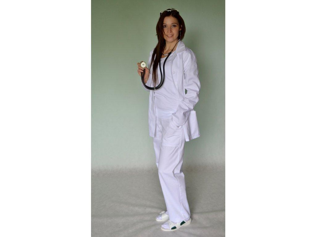 Kalhoty do pasu bílé dámské (Kalhoty vysoký nebo nízký sed)
