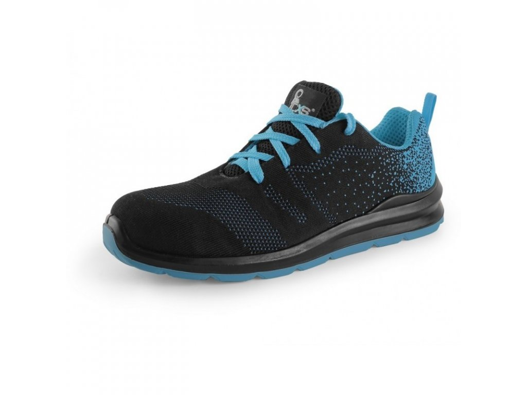 obuv texline vis s1 polobotka s ocelovou spici cerno modra