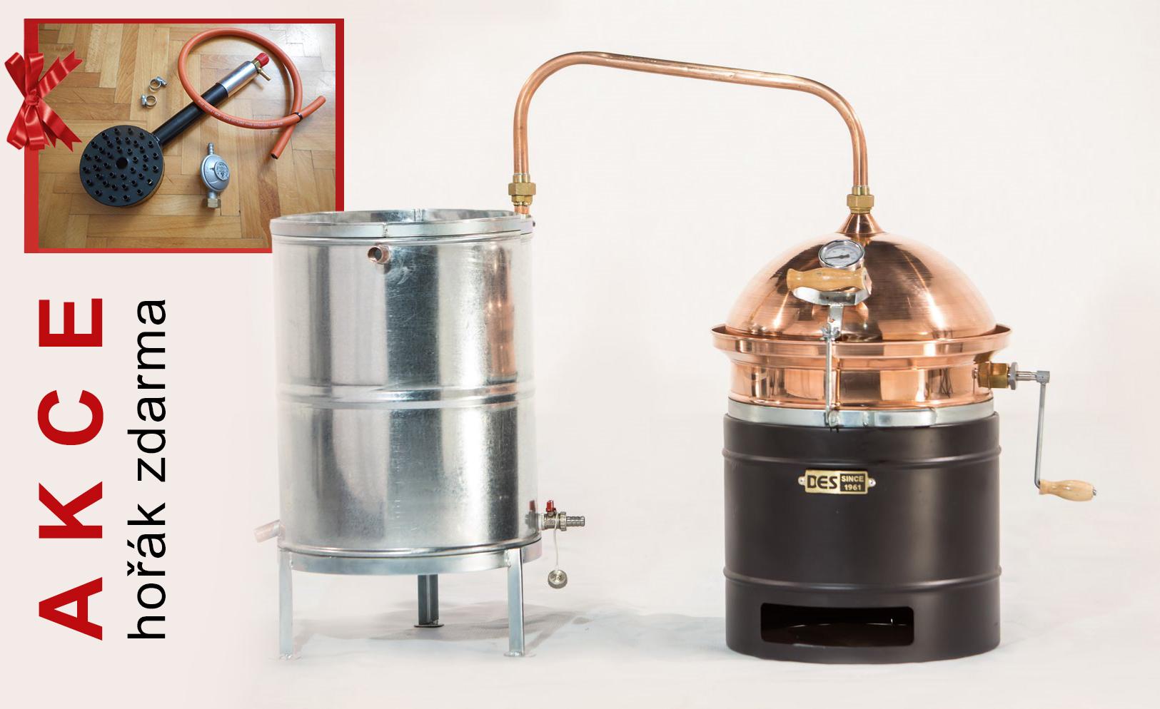 Akční set destilační přístroj Hobík 35l s hořákem v ceně