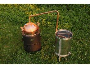 Destilacni pristroj Hobik 35 L na tuha paliva destilacni kolona (1)