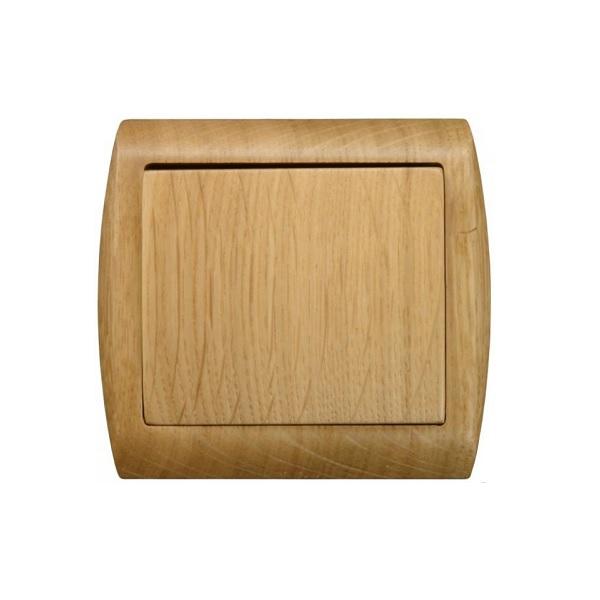 Vypinače a zásuvky dřevo