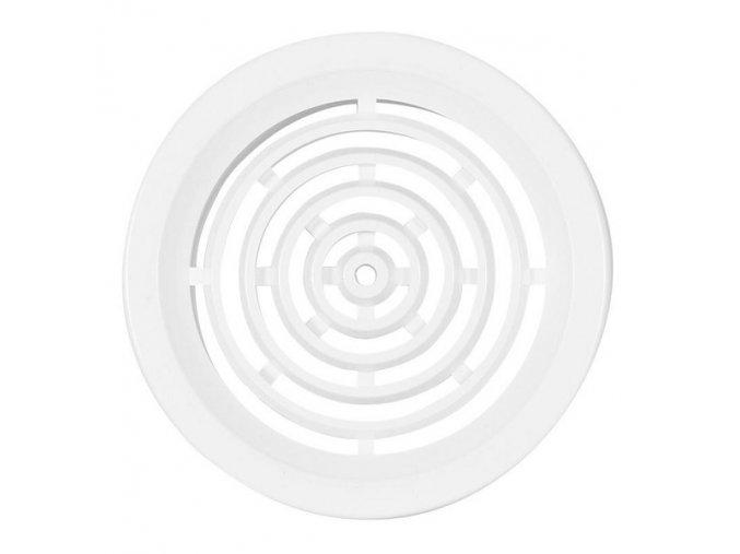 Větrací mřížka kruhová VM 50 B bílá /4 kusy 50mm