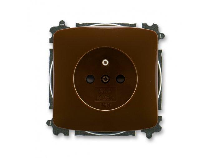 Zásuvka TANGO 5519A-A02357 H hnědá 230V