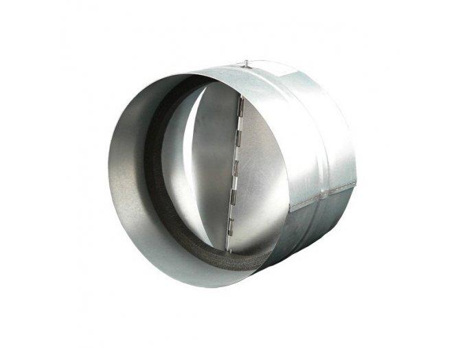 Zpětná klapka do potrubí 200 mm kovová