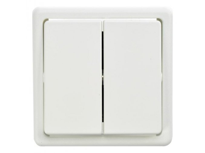 Vypínač dvojschodišťový č.5B /č.6 plus 6/bílý 3553-52289 B1 Classic