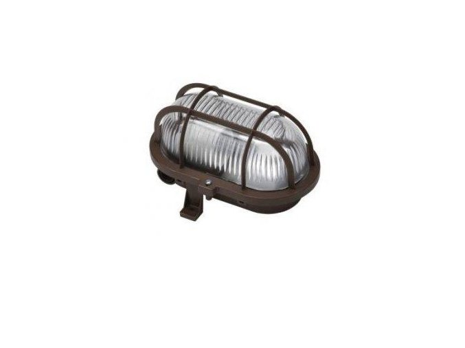 Svítidlo OVAL 60 hnědá 60W E27 IP54