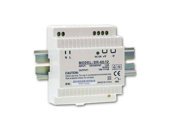 Transformátor, zdroj na DIN lištu 12V/60W
