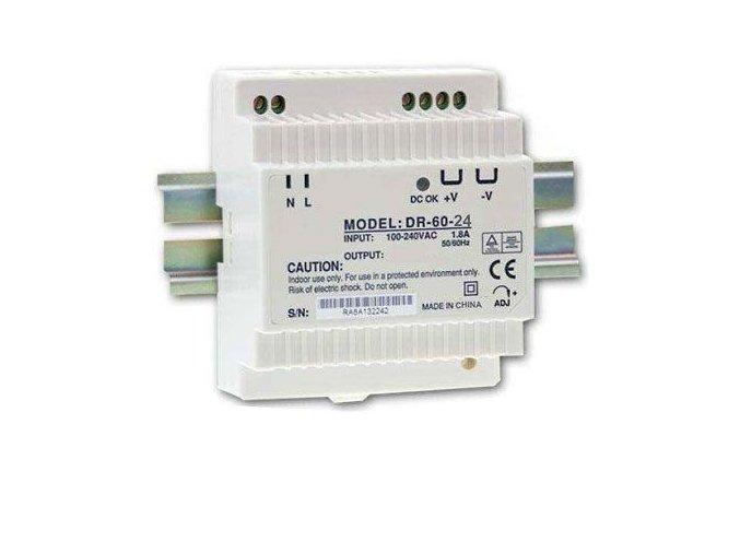 Transformátor, zdroj na DIN lištu 230V/24V, 60W DR-60-24