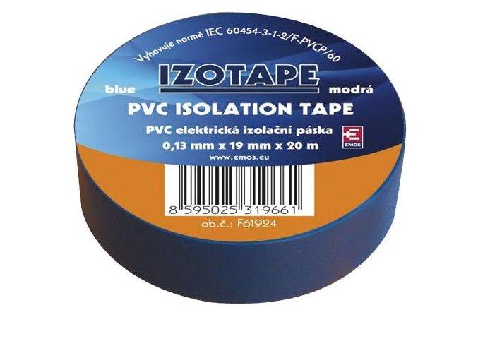 Izolační páska PVC 19mm / 20m modrá