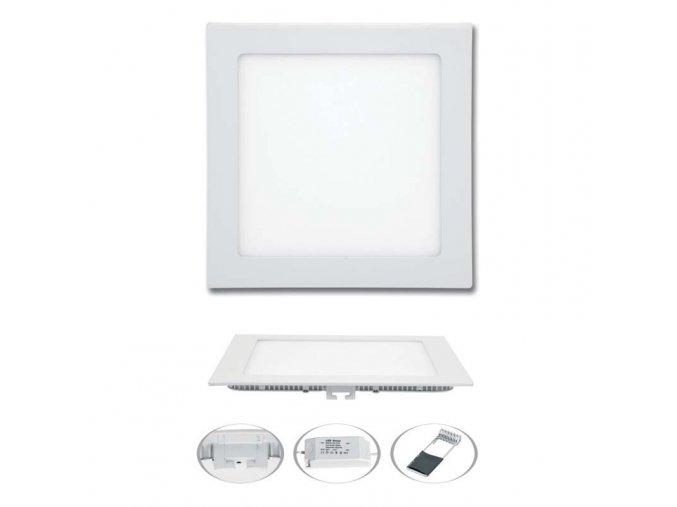 LED svítidlo LED-WSQ-12W/4100/BI, 12W, 4100K, RAFA