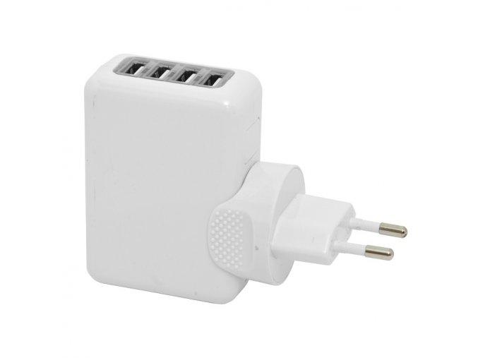 USB adaptér 230V 4x USB 2,1A
