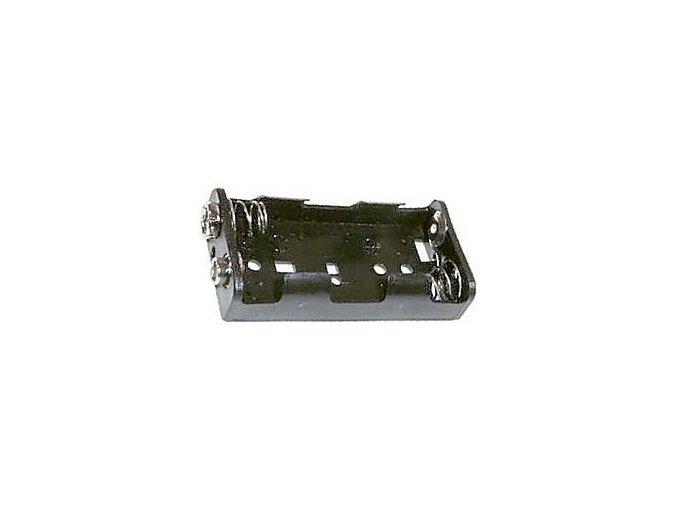 Držák baterií 2x AA LR6 vedle sebe s klipsem