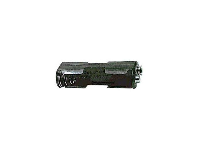 Držák baterií 2x AA LR6 za sebou s klipsem