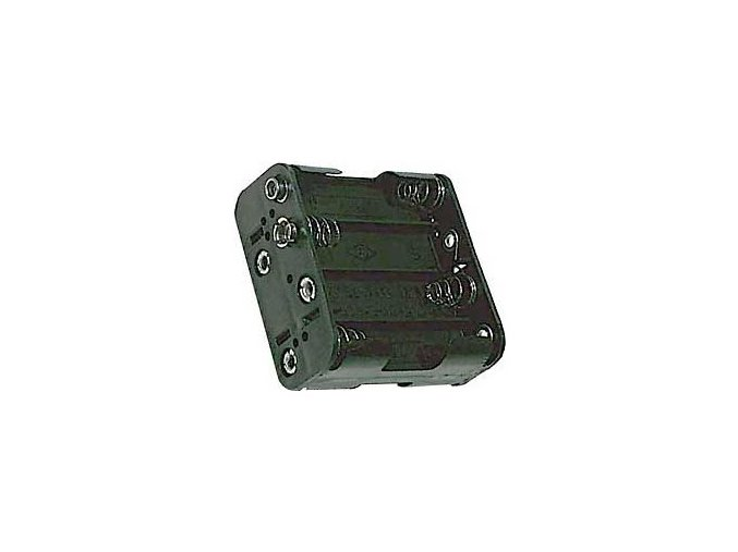 Držák baterií 8x AA LR6 s klipsem