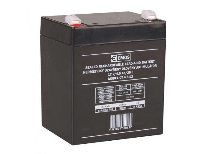 Bezúdržbový olověný akumulátor 12V 4,5Ah