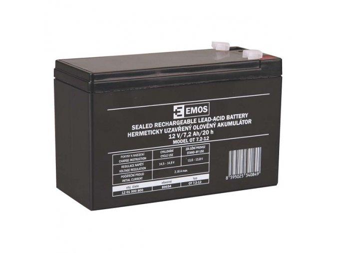 Olověný akumulátor 12V 7,2Ah faston 4,7 mm