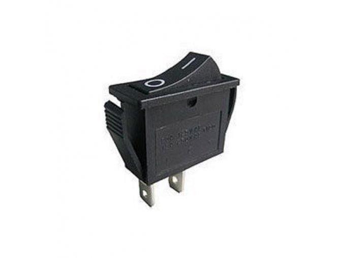 Vypínač kolébkový OFF-ON 1pol.250V/15A černý