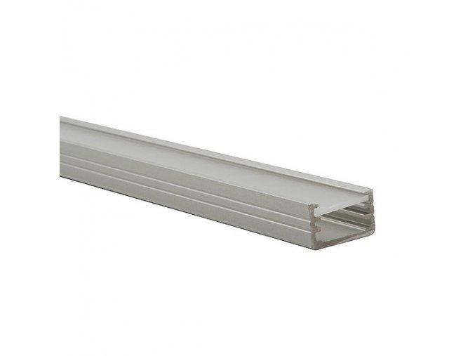 Hliníkový profil k LED páskům, alu lišta PROFILO B 1m