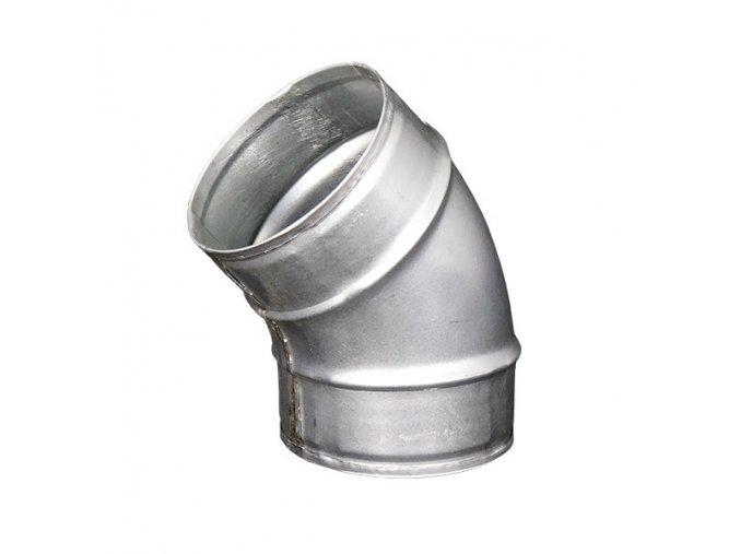 Kovové koleno pro kruhové potrubí 45 st./125 mm