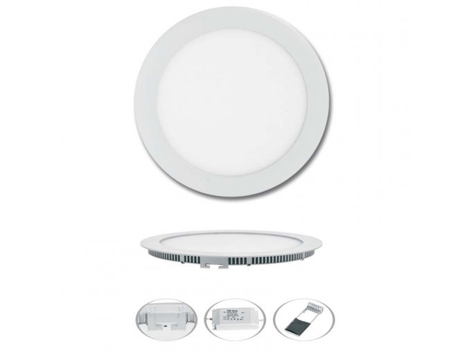 LED svítidlo LED-WSL-6W/2700/BI Kruh 12cm, 6W, 2700K, LADA