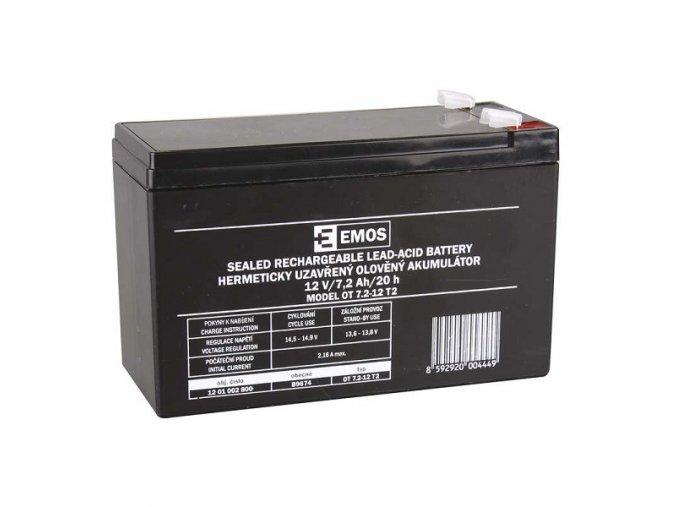 Bezúdržbový olověný akumulátor 12V 7,2Ah faston 6,3 mm