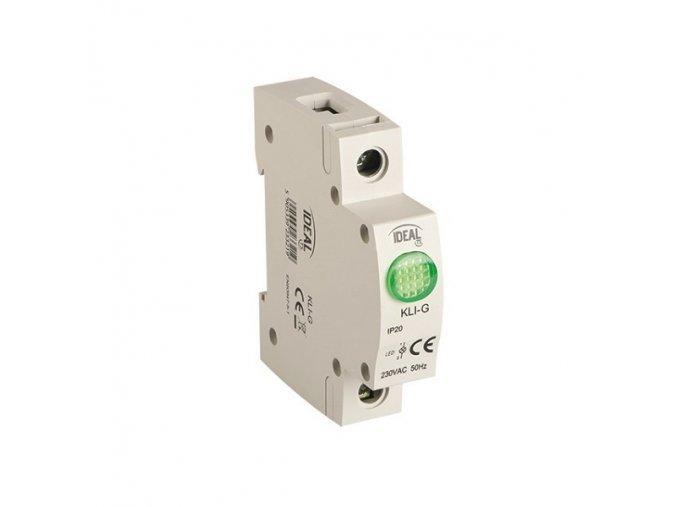 Světelné návěstí kontrolka KLI-G GREEN, zelená