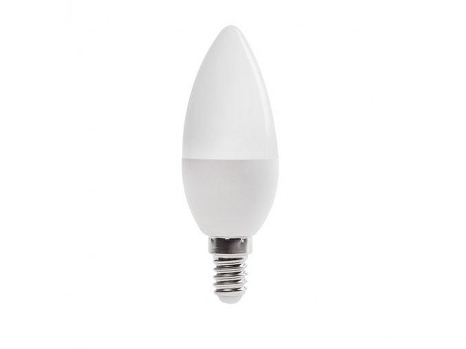 LED žárovka E14 6,5W svíčka DUN T SMD-WW teplá bílá