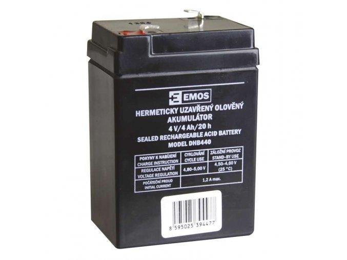Bezúdržbový olověný akumulátor 4V 4Ah DHB440 pro svítilny P2306-7