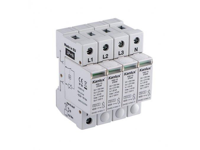 Přepěťová ochrana Kanlux KSD-T2 275/160/3P plus N na DIN lištu