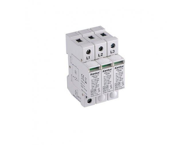 Přepěťová ochrana Kanlux KSD-T1+T2 275/180 3P na DIN lištu