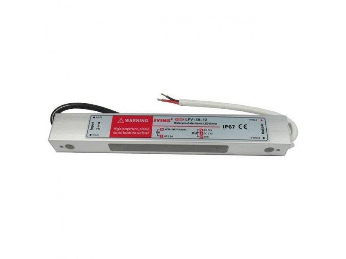 LED transformátor, trafo 12V/ 30W LPV30-12 napěťový