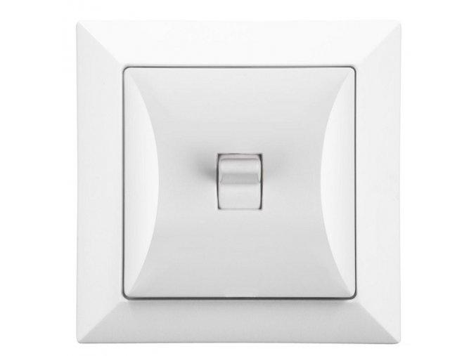 Vypínač RETRO č. 6 střídavý, schodišťový, bílý