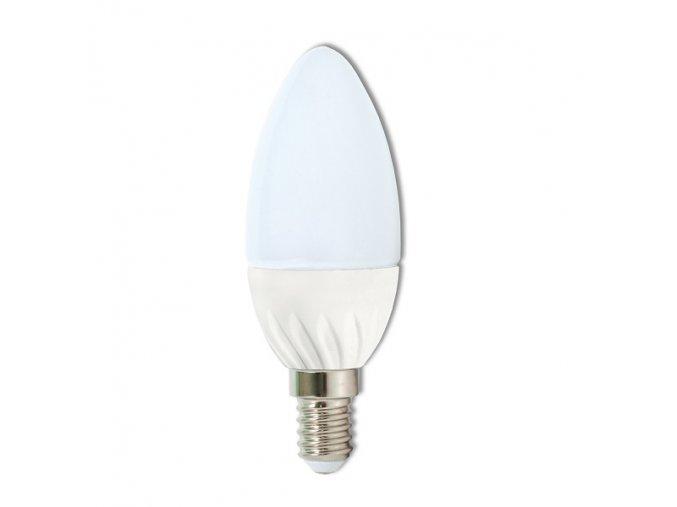 LED žárovka E14 7W svíčka LED7W/SV 4100K studená bílá