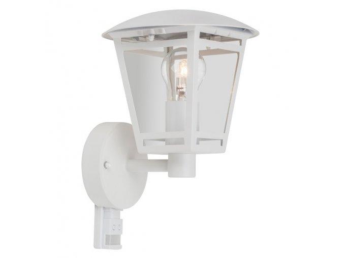 Světlo venkovní s čidlem lucerna LAURA Z1503S-BI nástěnné, bílé
