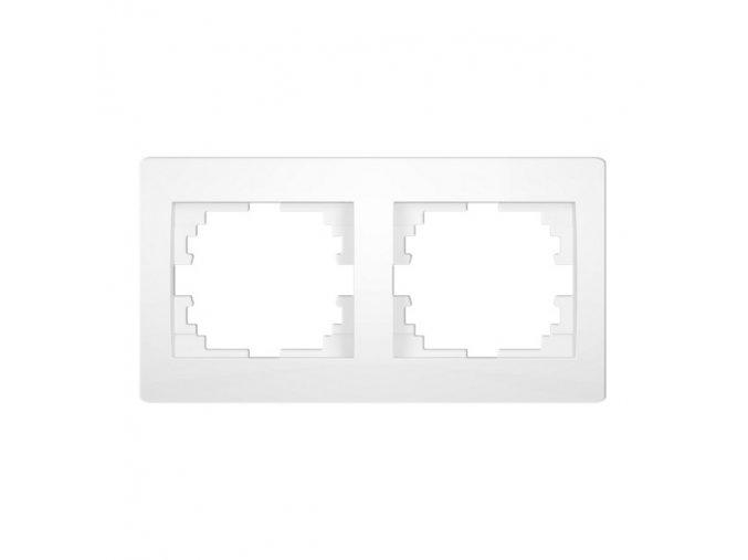 LOGI Dvojnásobný horizontální rámeček - bílá