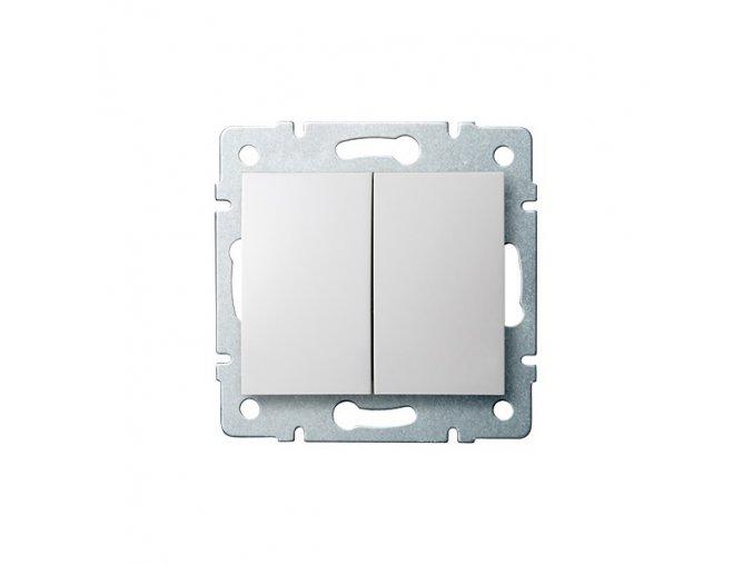LOGI Sdružený lustrový vypínač - č. 5 - bílá