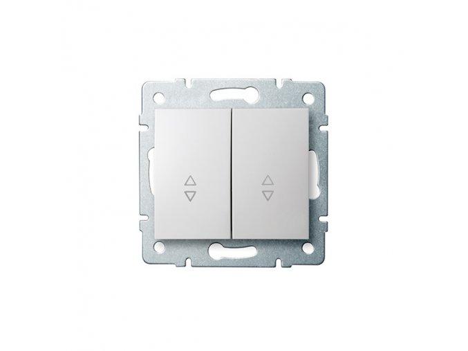 LOGI Schodišťový vypínač dvojitý - 6 + 6 - bílá