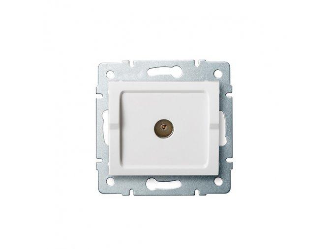 LOGI Anténní zásuvka typu F průběžná - bílá
