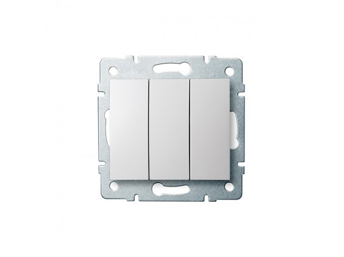 LOGI Trojitý vypínač - č. 3 - bílá