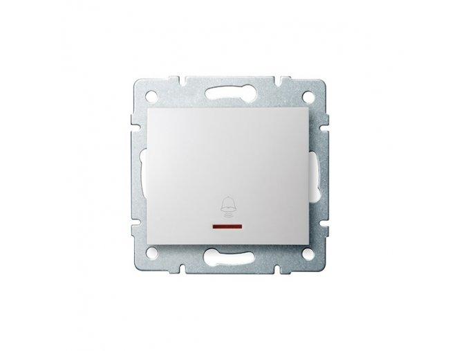 LOGI Zvonkové tlačítko s LED - bílá