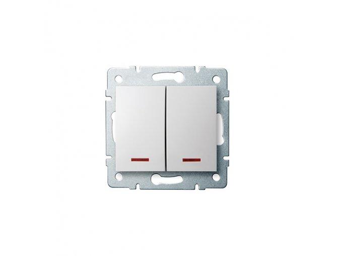 LOGI Sdružený lustrový vypínač s LED - č. 5 - bílá