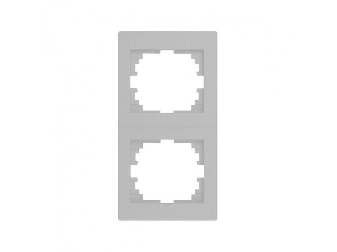LOGI Dvojnásobný vertikální rámeček - stříbrná