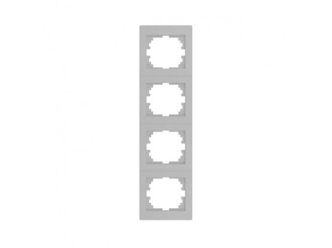 LOGI Čtyřnásobný vertikální rámeček - stříbrná