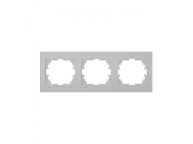 LOGI Trojnásobný horizontální rámeček - stříbrná