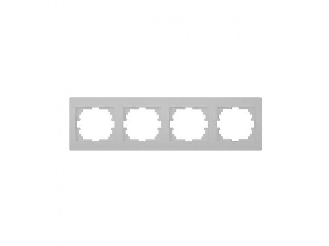 LOGI Čtyřnásobný horizontální rámeček - stříbrná