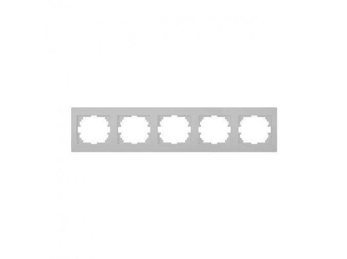 LOGI Pětinásobný horizontální rámeček - stříbrná