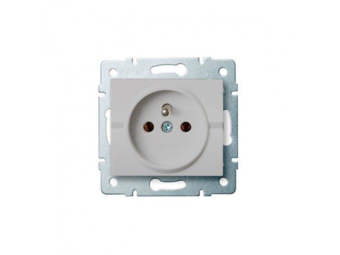 LOGI Zásuvka samostatná - stříbrná 230V