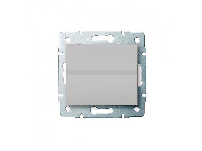 LOGI Zásuvka IP44 - stříbrná 230V