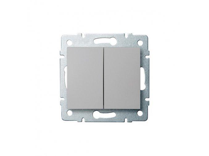 LOGI Sdružený lustrový vypínač - č. 5 - stříbrná
